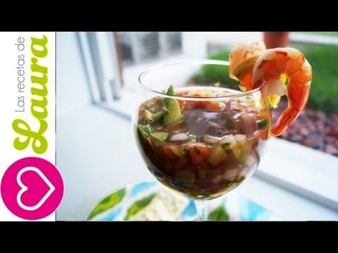 Receta de Coctel de Camarones♥Recetas con Mariscos♥Mexican shrimp cocktail