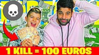 1 KILL=100€ RETO EN FORTNITE CON TOBBALINK #2 !!! SAQUEO A TOBBAL