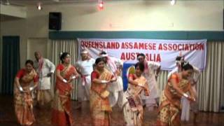 Bihu Dance by Members of Queensland Assamese Association (QAA),Australia