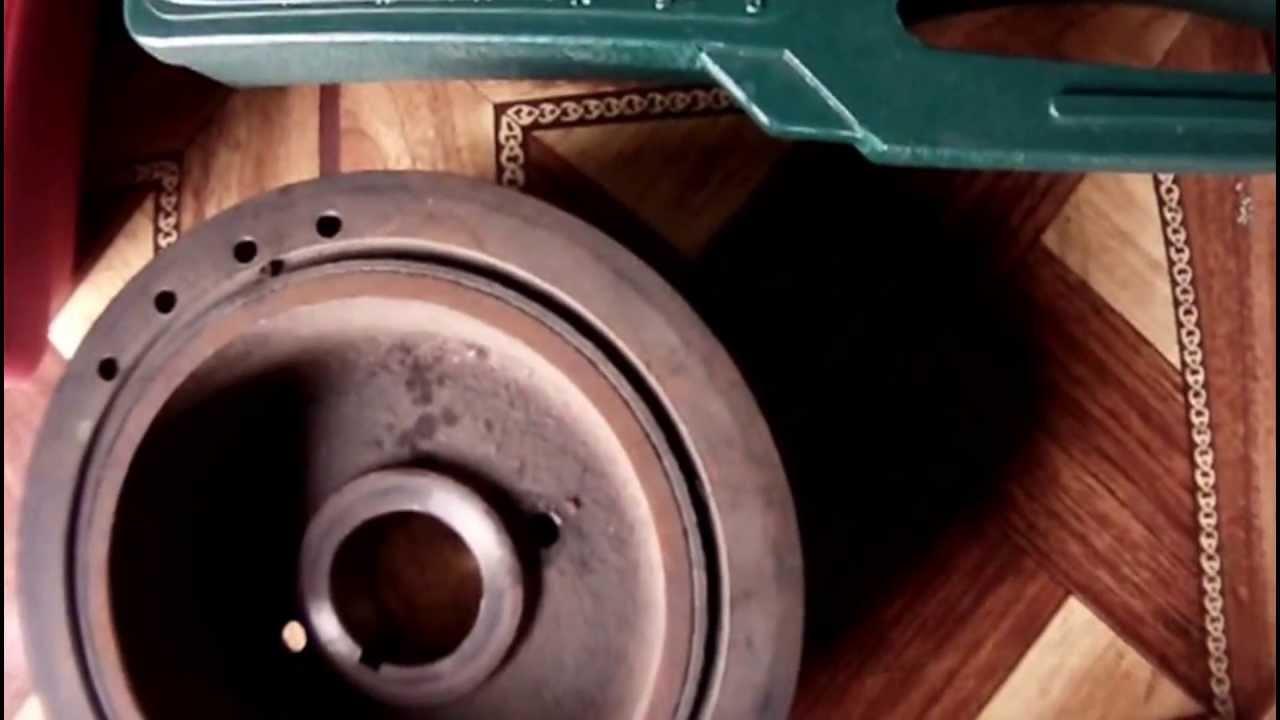 Chain wrench crankshaft pulley