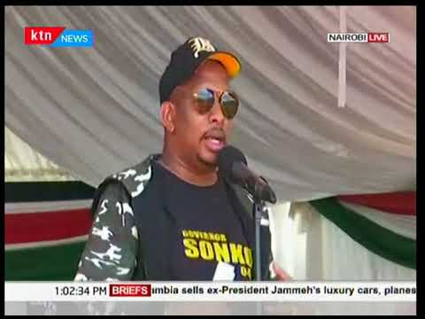 Nairobi Governor Mike Sonko present at the launch of National tree planting day