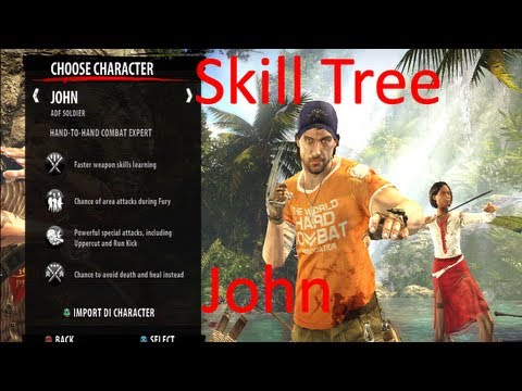 Level Up Faster!!! Custom Skill Tree for John on Dead Island: Riptide