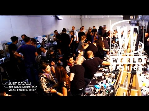 Backstage Just Cavalli Spring-Summer 2015 Milan Fashion Week