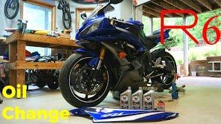 ('06-'16) Yamaha YZF-R6 First Oil Change: DIY Maintenance