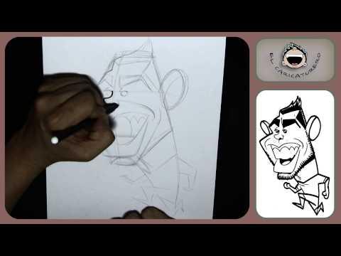 Cómo dibujar una caricatura de Tevez- How to draw caricature Tevez