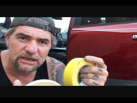 Custom Car Painting How To Back Tape Door Jambs Youtube