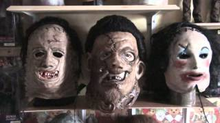 mask leatherface myers and zombie bust sinisterstudio