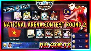 """CHOU - Saber Immune in National Arena Contest"" | Mobile Legends | Malaysia vs Vietnam (Round 2)"