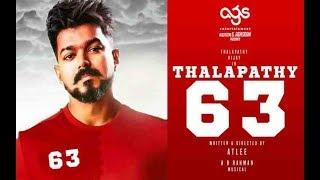 Thalapathy 63 Pooja Video l AGS Entertainment l Atlee l AR Rahman l Natanthara