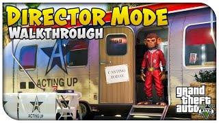 GTA 5 NEW Director Mode Gameplay! Play as Space Monkey & Aliens + Changing Weather/Time of Day!