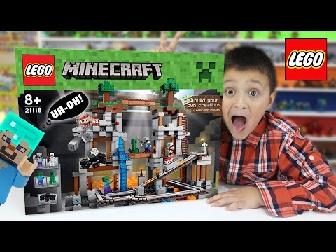 Lets Build LEGO Minecraft THE MINE! w/ Mike! (Timelapse & FGTEEV Cheesy Review)