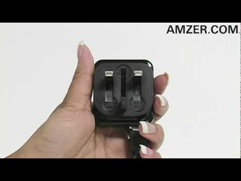 Amzer Foldable UK Mains USB Adapter