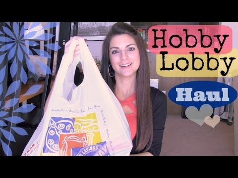 Hobby Lobby Haul - Craft Supplies. Valentines Decor. & More.