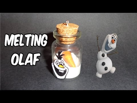 How to Make a Miniature Bottle Charm: Frozen's Melting Olaf