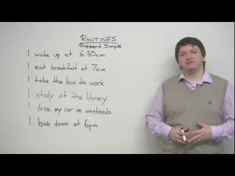 English Grammar – Present Simple tense