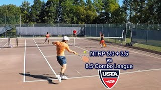 NTRP 5.0 Andrew + 3.5 Wife take on 8.5 Mixed Doubles Combo League Tennis