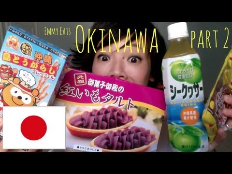 Emmy Eats Okinawa, Japan Part 2: tasting more Okinawan snacks & sweets