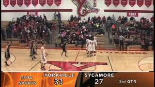 High School Boys Basketball Yorkville, IL vs Sycamore, IL  1-10-14
