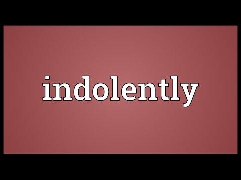 Header of indolently