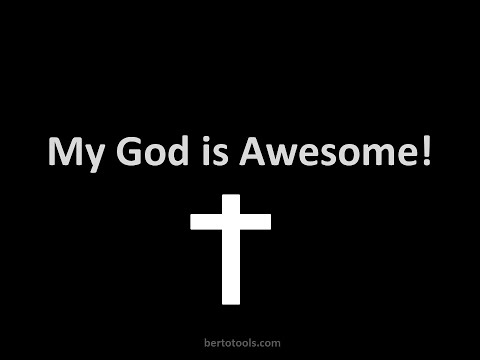 My God is Awesome Vocals Worship Video w/ Lyrics