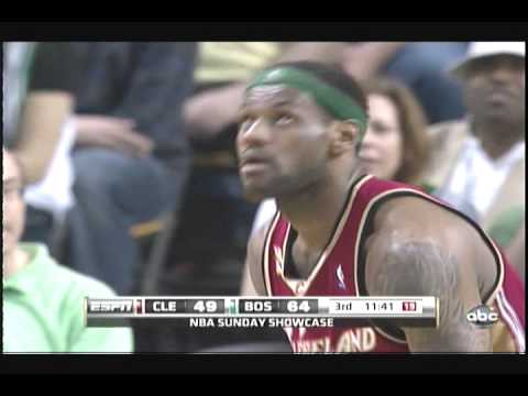 LeBron James blocks Rajon Rondo again on Easter sunday April 4th 2010 Cavs vs Celtics