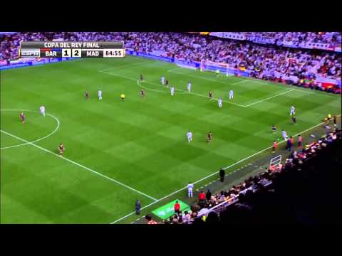 Gareth Bale's incredible winning goal against Barcelona - Copa del Rey Final 2014