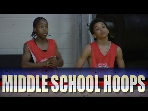 Jashaun Agosto vs Jaylin Fleming - 2012 John Lucas Camp - Middle School Combine