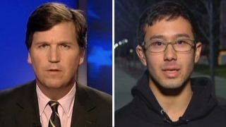 Tucker vs. Rutgers protester: Who should be allowed into US?