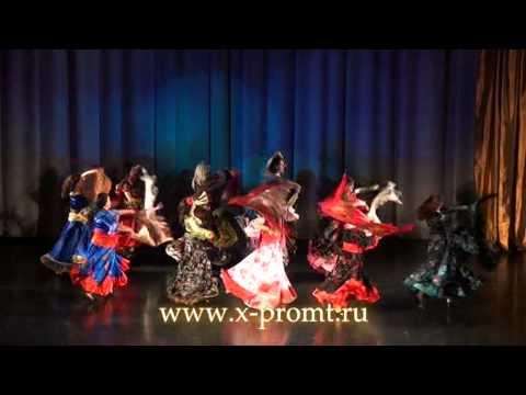 """Цыганский танец """"Маменька"""" с шалью. Russian gipsy dance with veils."""