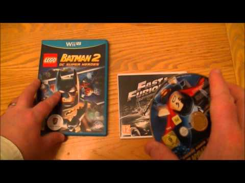 Lego Batman 2 DC Super Heroes Nintendo Wii U & Fast & Furious Showdown Nintendo 3DS Unboxing