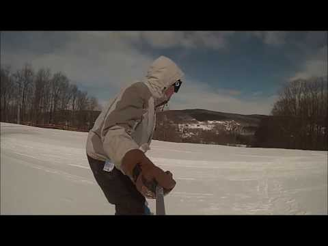 snowboard cruise at Greek Peak