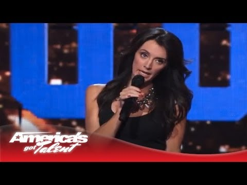 Angela Hoover - Mocks Celebrity Moms With Nursery Rhymes - America's Got Talent Semi-Finals 2013