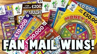 FAN MAIL WINS!  14X TIX! ✦ 25£ National Lottery Scratchcards