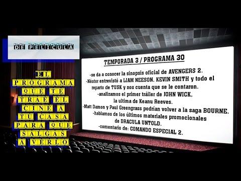 ▶DE PELICULA - programa de TV de cine - Comando Especial 2 / Dracula untold / Tusk / John Wick