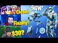 Streamers React To *NEW* FROSTBITE SKIN! (DEEP FREEZE BUNDLE) - Fortnite Funny Moments