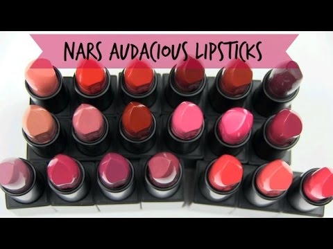 NARS Audacious Lipsticks: Live Swatches & Review