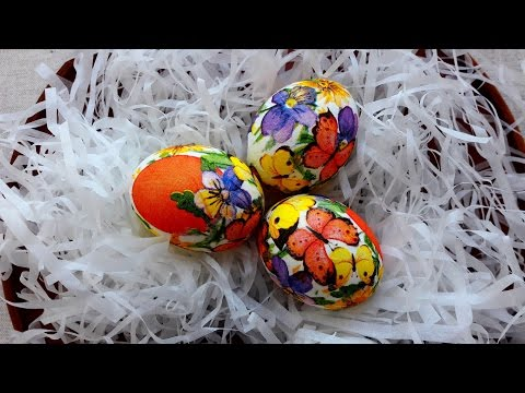 Пасха 2018. Пасхальные Яйца. Декупаж. Яйца Пасхальные.