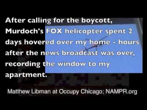 Occupy Chicago Tribune/LA Times Boycott Call Preventing Murdoch Buyout from Sam Zell W/Matt Libman