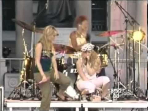 Hilary Duff Ft Haylie Duff   Our Lips Are Sealed Live Good Morning America 2004