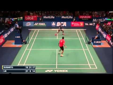 2015 BCA Indonesia Open R32 [MS] Tommy SUGIARTO vs LIN Dan (Sports)