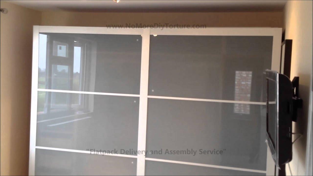 IKEA Pax Lyngdal Sliding Door Wardrobes - YouTube