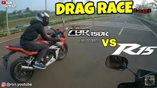 DRAG RACE: R15 vs CBR 150R. TIBA2 DIBALAP DUO SUZUKI!