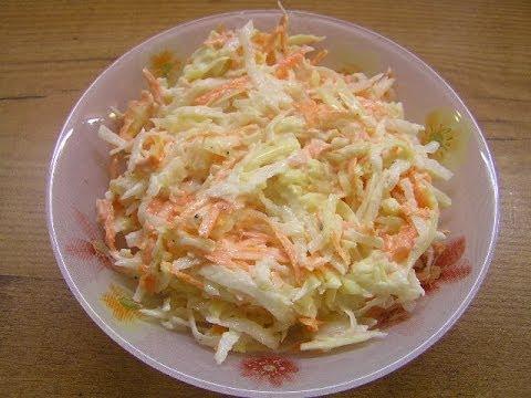 Салат из редьки с морковью и сыром - видео рецепт
