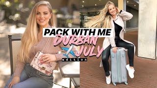 PACK WITH ME FOR DURBAN JULY | Travel Vlog | Jessica van Heerden