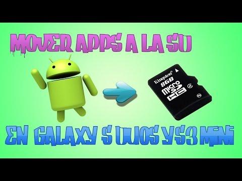 Como pasar aplicaciones android a la tarjeta SD en samsung galaxy S duos/S3 mini..!!