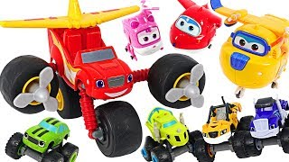 Fly! Blaze and the Monster Machines High-Flying Morpher Blaze and Super Wings! #DuDuPopTOY
