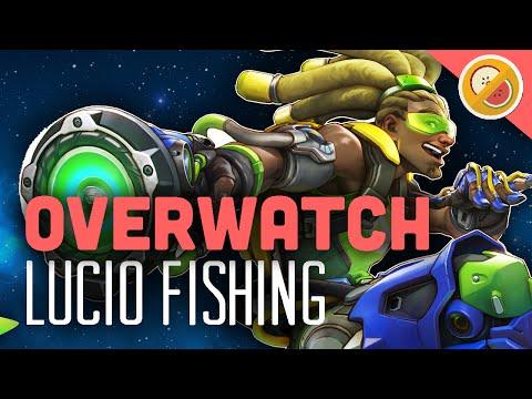 "Overwatch ""Lucio Fishing"" - Custom Game Funny Moments"