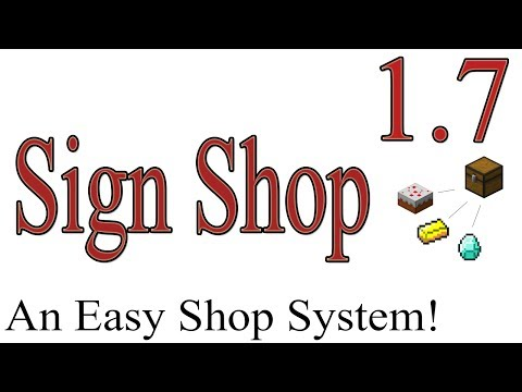 How To use SignShop Plugin 1.7.4