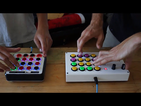 Mad Zach & Samur_Eye finger drumming a sick beat on Midi Fighters