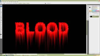 Poshop CS3 simple and realistic blood text effect tutorial for beginners